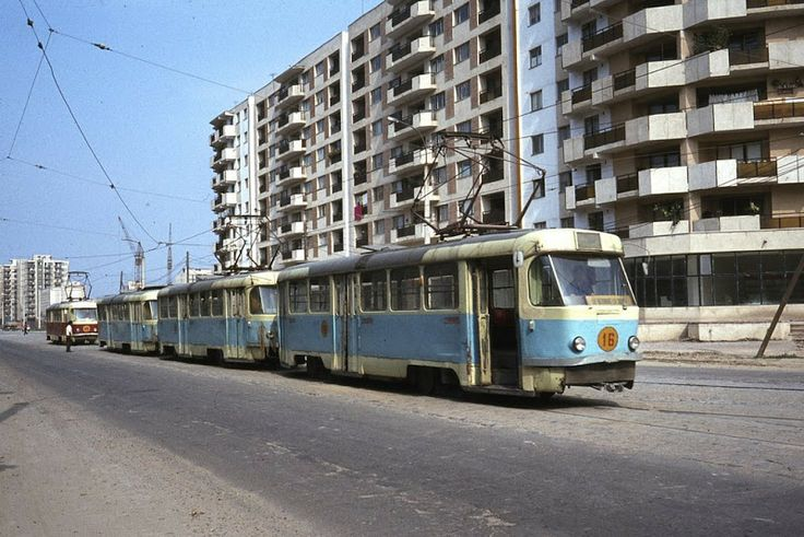 Galati Romania Tram in the 80's