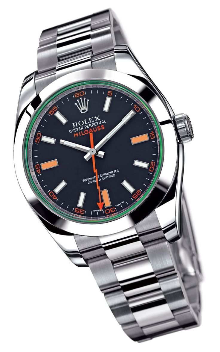Rolex Milgauss - Created by Rolex in the 50's for scientists who regularly worked around highly magnetic machinery. Even made a special version for CERN scientists with no radium on the dial that could potentially interfere with their measurements. Basically, the original nerd watch.