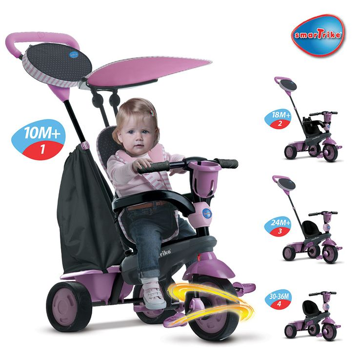 smarTrike 4-in-1 Touch Steering Star - Pink | ToysRUs Australia