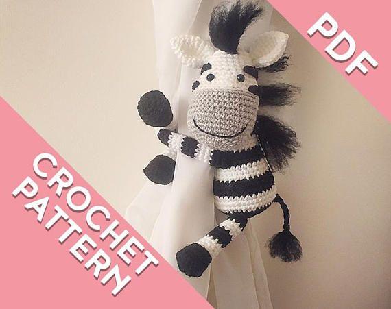 Zebra curtain tie back PATTERN tieback left or right side