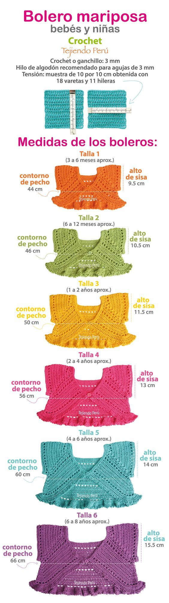 #Bolero mariposa tejido a #crochet para bebés y niñas. Video tutorial del paso a paso!: