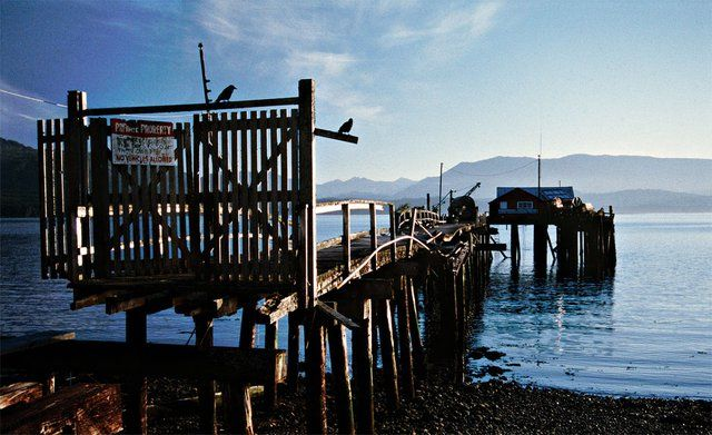 """The first salmon cannery in Alert Bay was constructed in 1870, the first lumber mill in 1887. The Kwakwaka'wakw named this spot Ya'Lis, meaning """"spreading-leg-beach."""" Today there are fewer than two hundred who speak Kwak'wala and would use that name."""