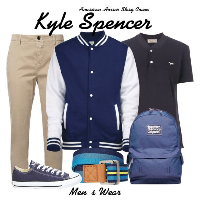 Ahs Coven by sparkle1277 on Polyvore featuring polyvore, Witchery, Closed, Maison Kitsuné, Superdry, Converse, men's fashion, menswear and clothing