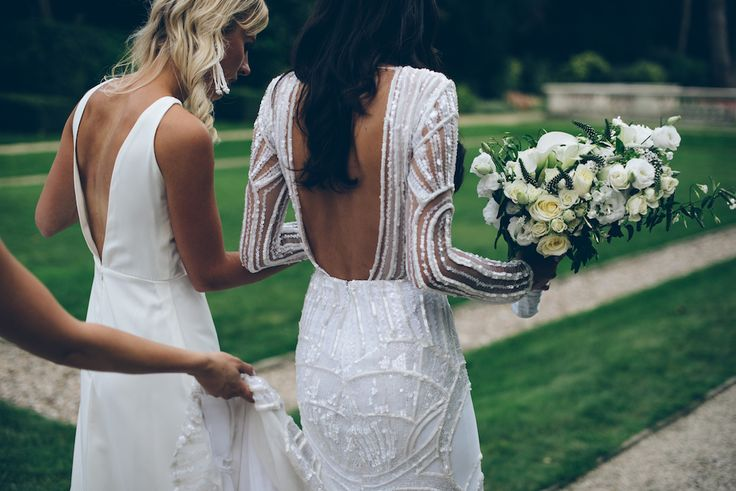 amber chloe bespoke wedding dress and bridesmaid dress. Photo by Lelia Scarfiotti. (Follow amber_chloe on instagram)