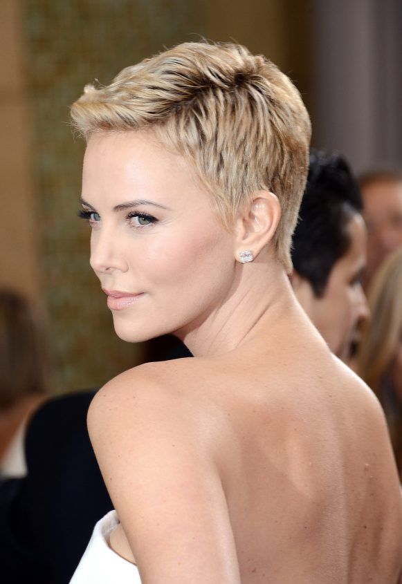 The hot haircut right now: extreme pixie style, super short and super bleached