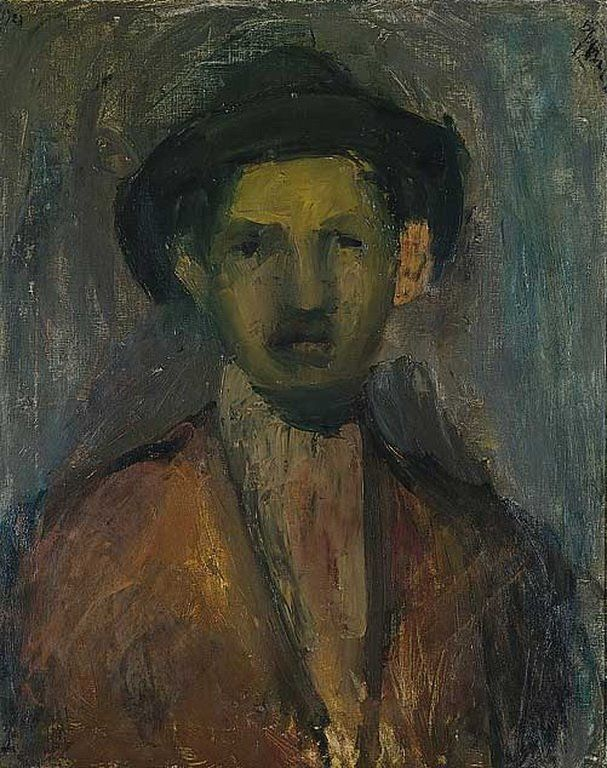 Portrait of the Painter Waldmulle, 1923 George Bouzianis