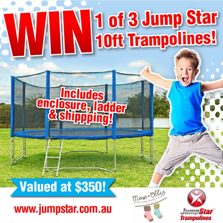 WIN one of 3 Jump Star Trampolines! Includes Australia-wide delivery!  Ends soon! Click here to enter! http://bit.ly/1tqurxx