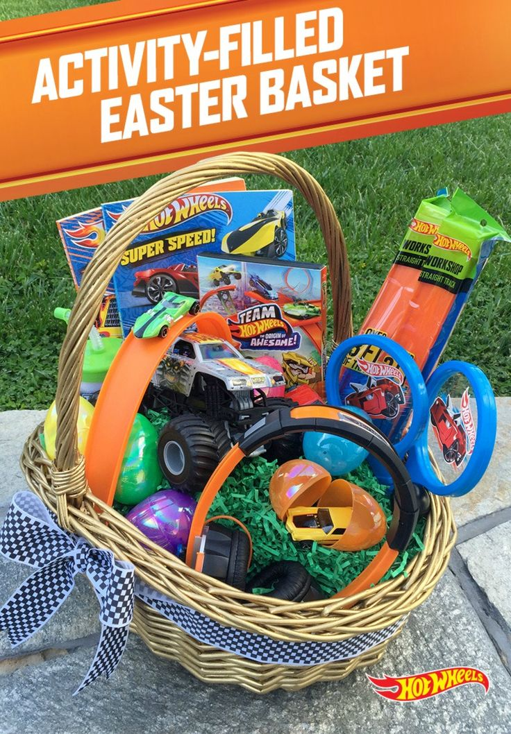 134 best easter baskets images on pinterest easter baskets easter hot wheels last longer than chocolate give your kids the ultimate easter basket that will negle Image collections