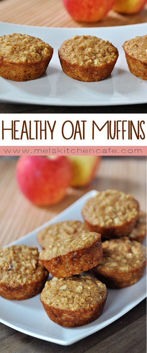 These kid-approved healthy applesauce oat muffins are moist, delicious and they freeze beautifully.