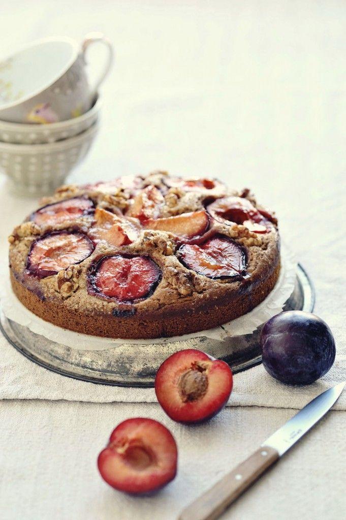 Gâteau Épicé aux Prunes & aux Noix {VEGAN}⎜Kouka Cuisine