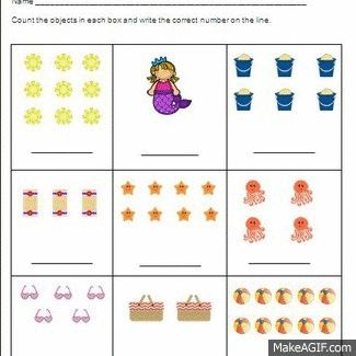 summer counting numbers practice pages 1 20 differentiated common core aligned. Black Bedroom Furniture Sets. Home Design Ideas