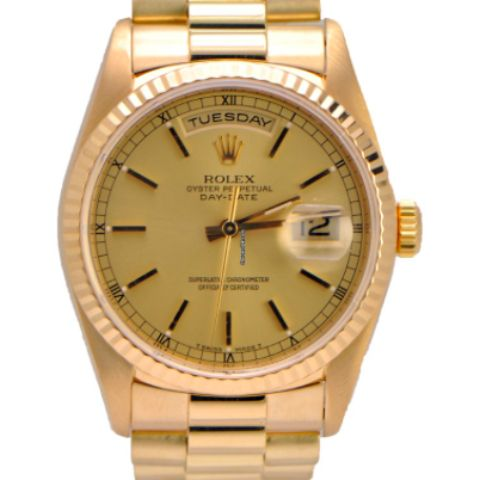 Popular Rolex Presidential Day Date k Yellow Gold
