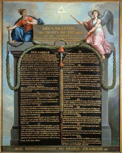 Déclaration des droits de l'homme et du citoyen. Jean-Jacques-François Le Barbier. Copyright © © Musée Carnavalet / Roger-Viollet