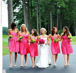 wedding party colours