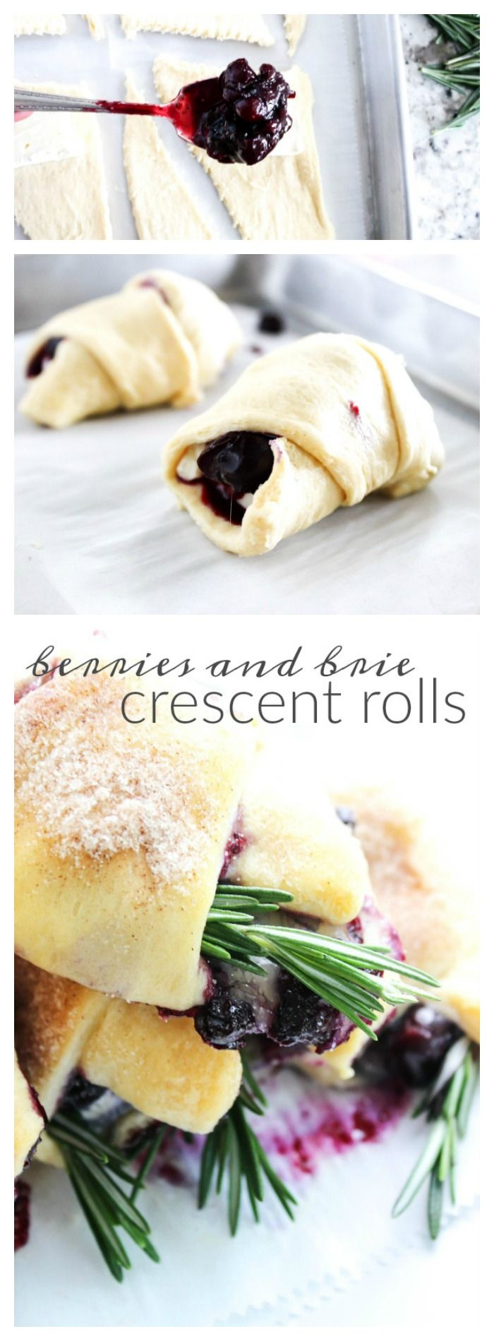 Berries & Brie Crescent Rolls - A Dash of Sanity