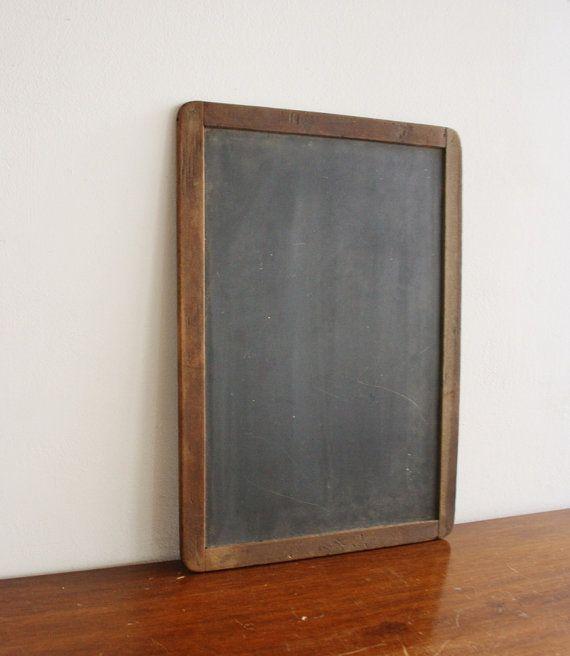 Vintage slate schoolhouse chalkboard with by highstreetmarket