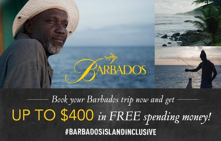 For a limited time, set up to $400 in FREE money to spend on-island when you book your next Barbados Trip! http://www.visitbarbados.org/islandinclusive #BarbadosIslandInclusive