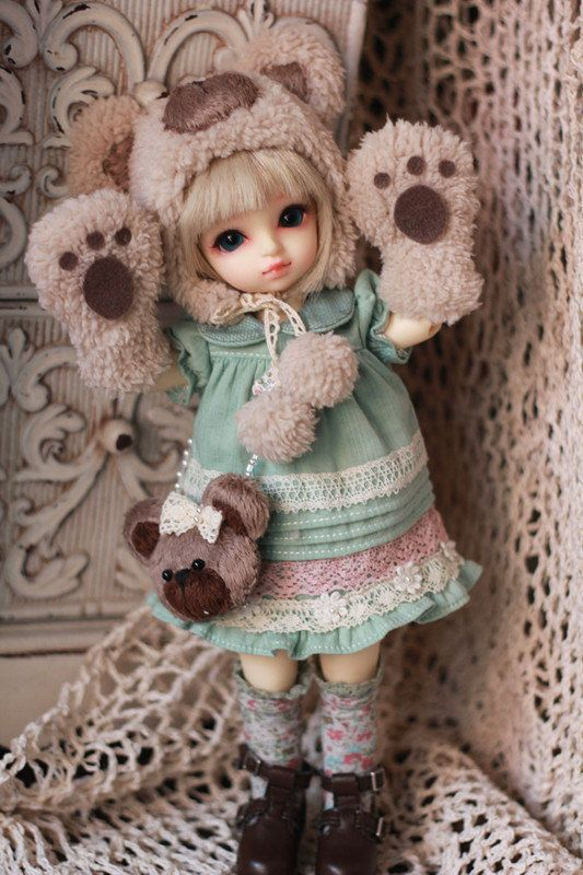 #bjd #dolls #Candy Bear Red watermelon  for yosd by AngelGardenByChilly on Etsy