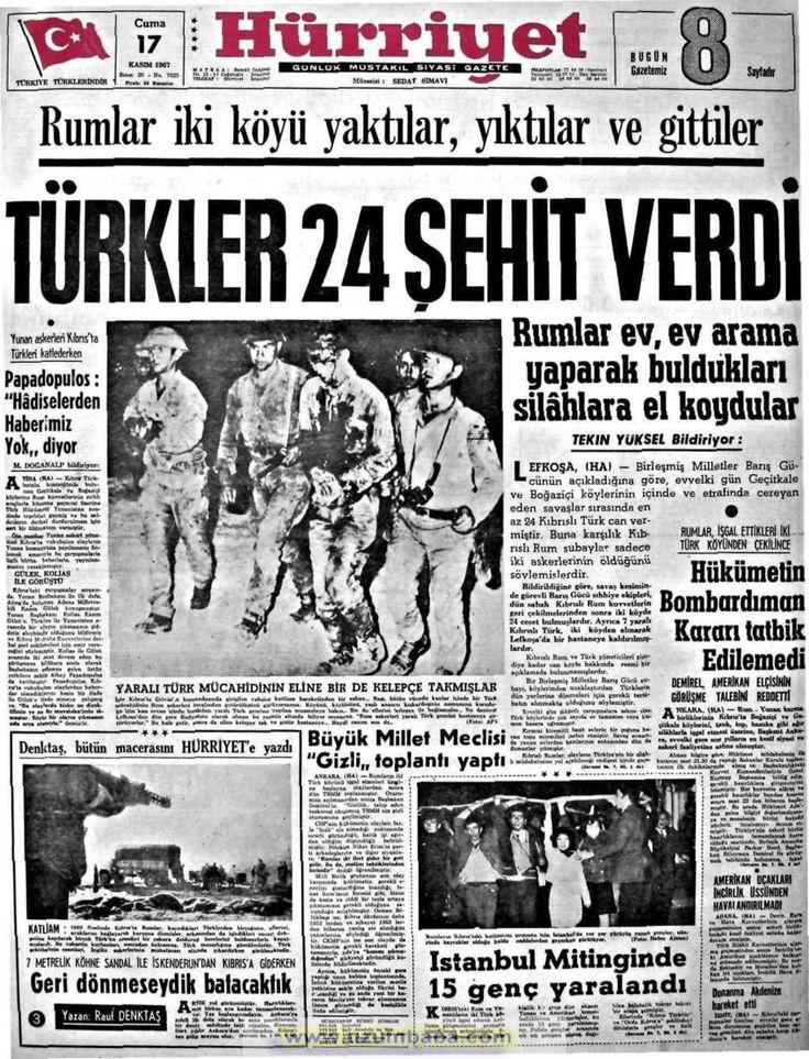 Hürriyet gazetesi 17 kasım 1967
