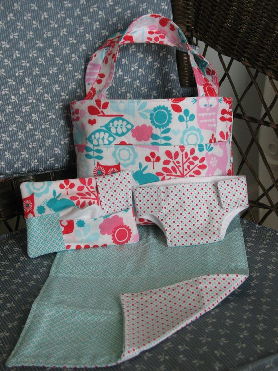 Baby Doll Diaper Bag SetCloth Diaper by GulfBreezesBoutique, $28.00