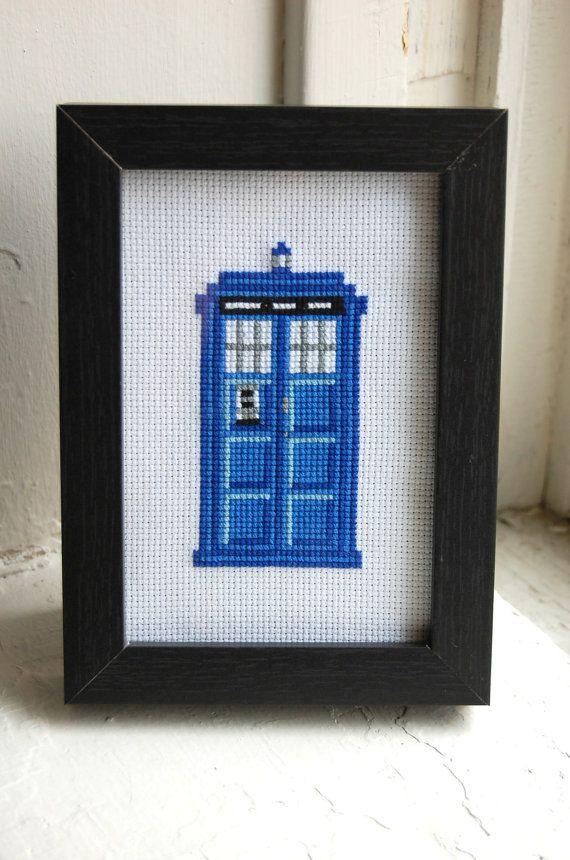 PATTERN - Doctor Who - Tardis - Cross Stitch. $4.00, via Etsy.
