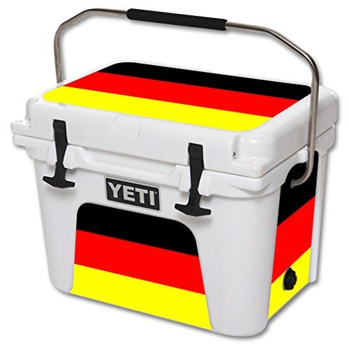 MightySkins Protective Vinyl Skin Decal for YETI Roadie 20 qt Cooler wrap cover sticker skins German Flag >>> You can find more details by visiting the image link.