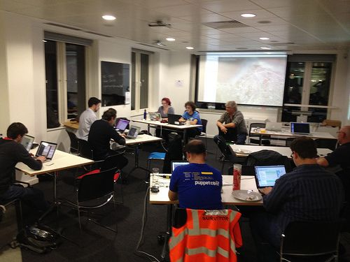 OpenStreetMap HOT typhoon mapping mapathon by Harry Wood, via Flickr