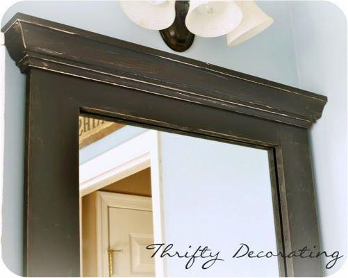 DIY Framed Bathroom Mirror… for under $15.00!