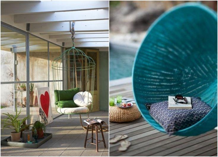 17 id es propos de fauteuil suspendu jardin sur - Loveuse suspendue resine tressee ...