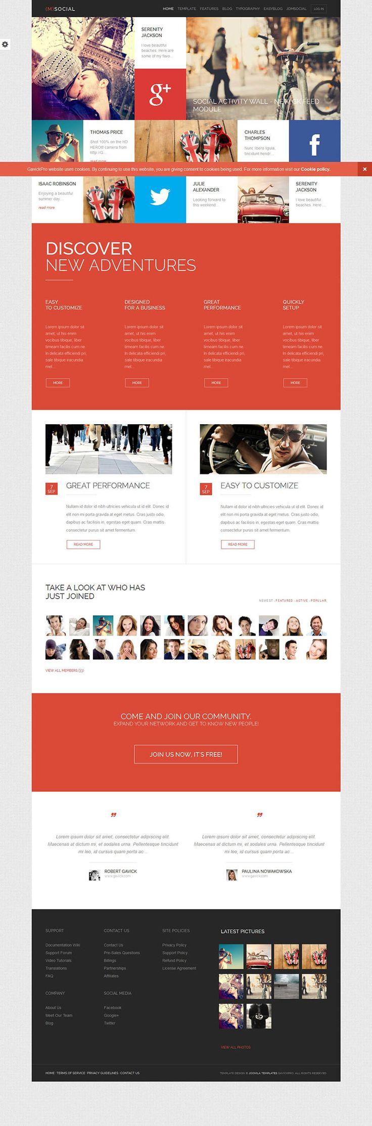 M-Social - Responsive #Joomla Theme for #JomSocial http://www.themesandmods.com/joomla-templates/m-social/