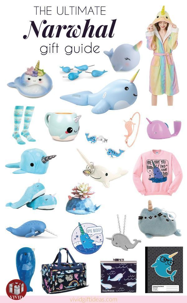 Awesome narwhal themed gift ideas. The best list that includes all super cute unicorn of the sea stuff. #narwhal #magic