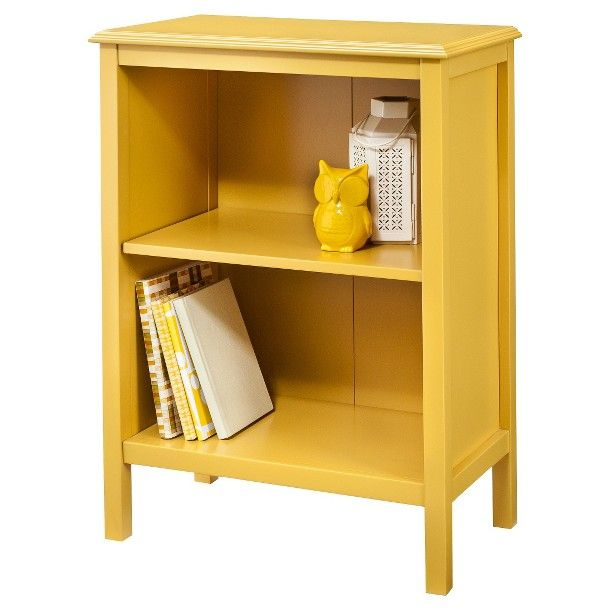 Yellow! Use as end tables or nightstands? Threshold™ Windham 2-Shelf Bookcase