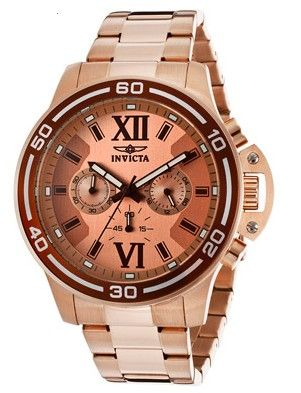 Invicta Watch from WorldofWatches.com.  Men's Specialty Chronograph Rose Gold Dial 18K.  Get your rebate from RebateGiant.