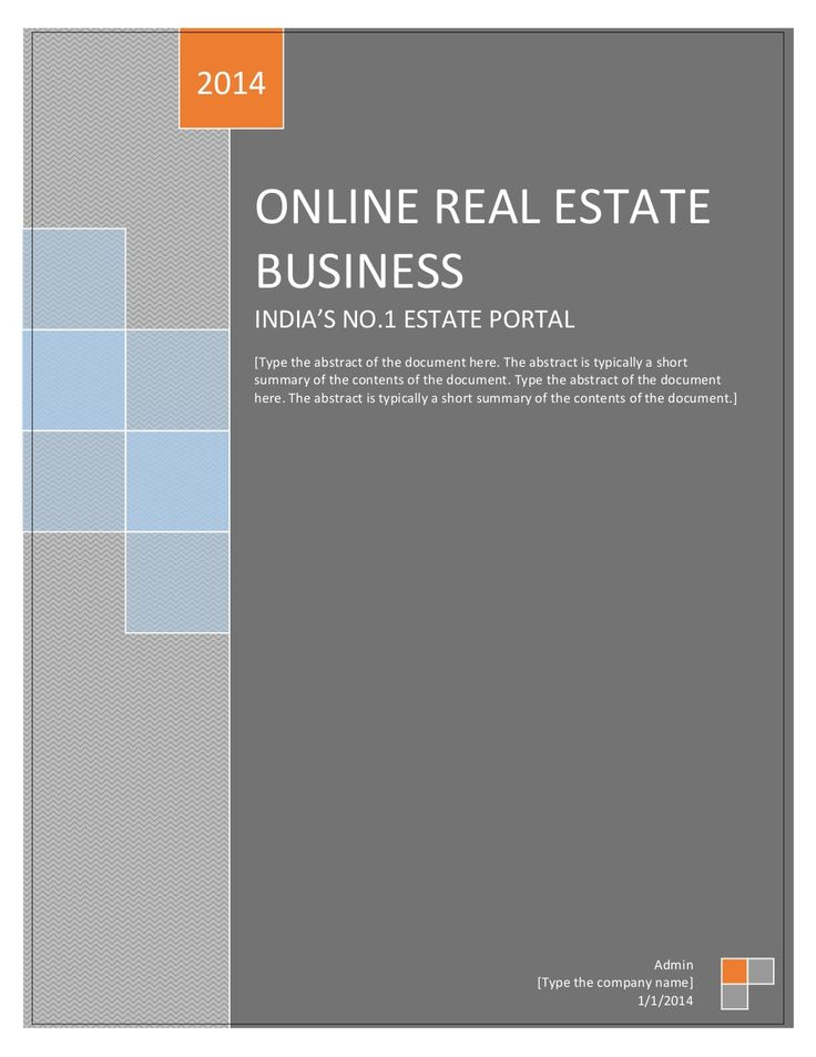 Project report on ONLINE REAL ESTATE BUSINESS by Divyesh Shah via slideshare