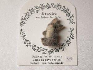 broche-lapin AtelierMainsDeLaine sur etsy