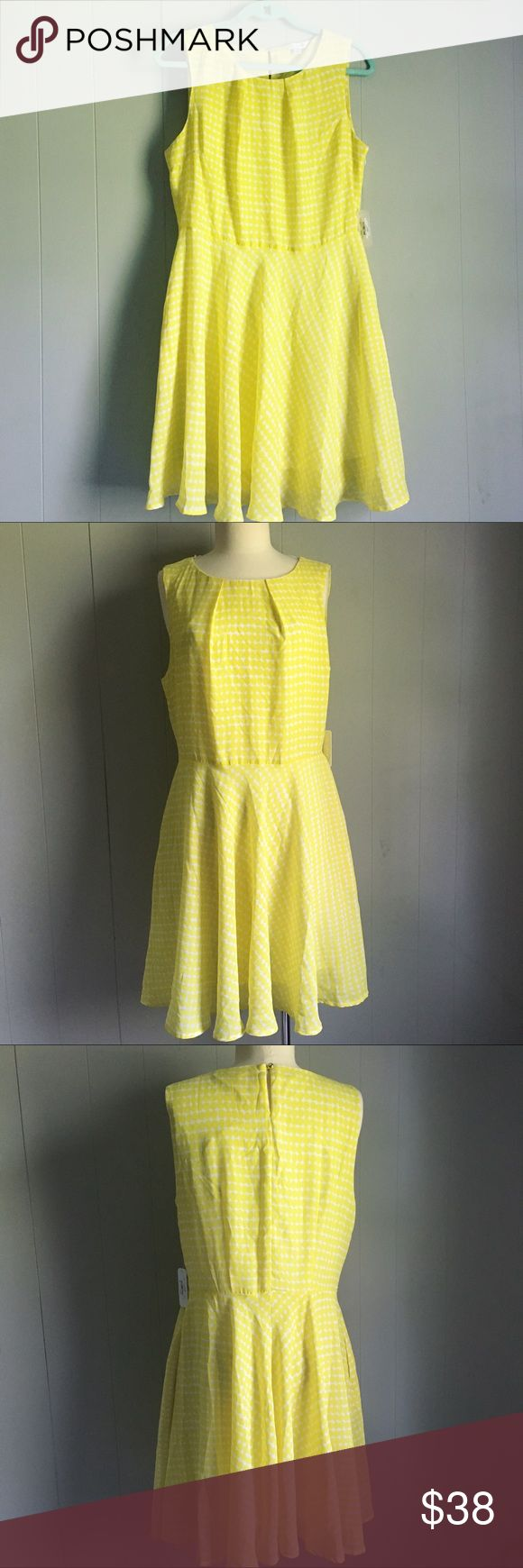 Charming Charlie • Yellow Tea Cocktail Party Dress Charming Charlie Yellow Dress Tea Cocktail Party Size L Diamond Check Print Woman's Aline Sleeveless Dress check print Description  Brand/Designer: Charming Charlie  Condition: New with tag Color: yellow/white Size: L Fully lined  Most important: Pockets! Charming Charlie Dresses Mini