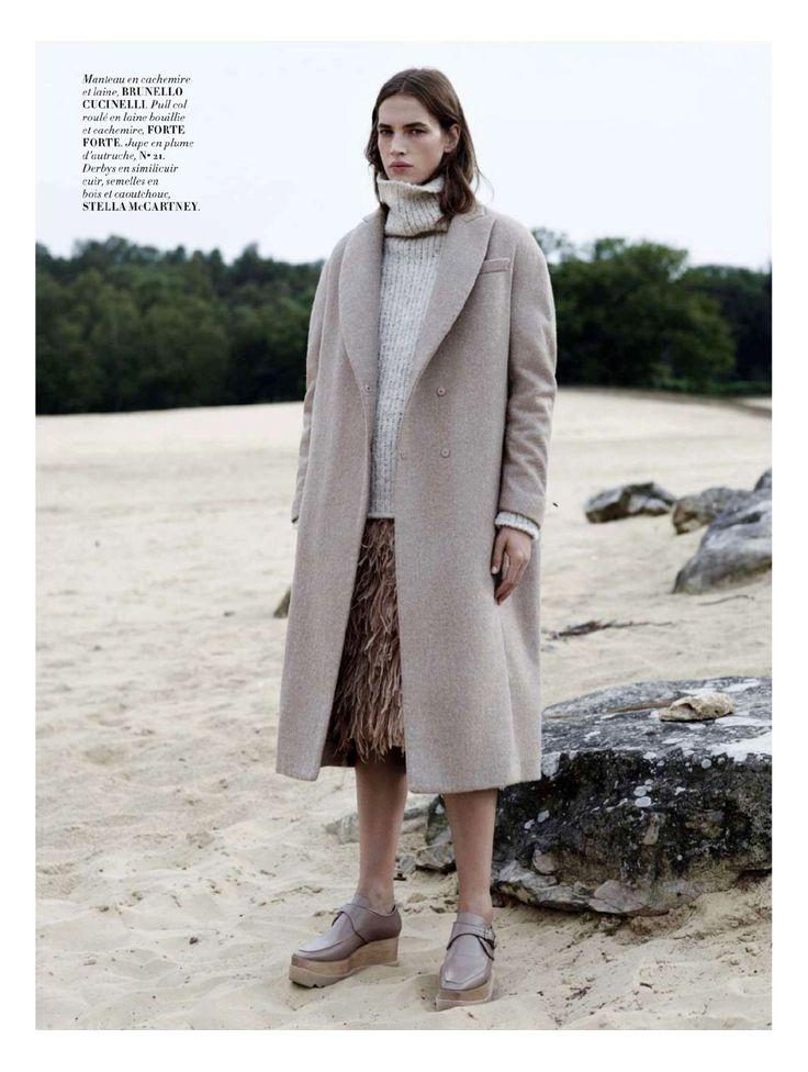 visual optimism; fashion editorials, shows, campaigns & more!: the monochrome set: crista cober by laurence ellis for l'officiel paris october 2014