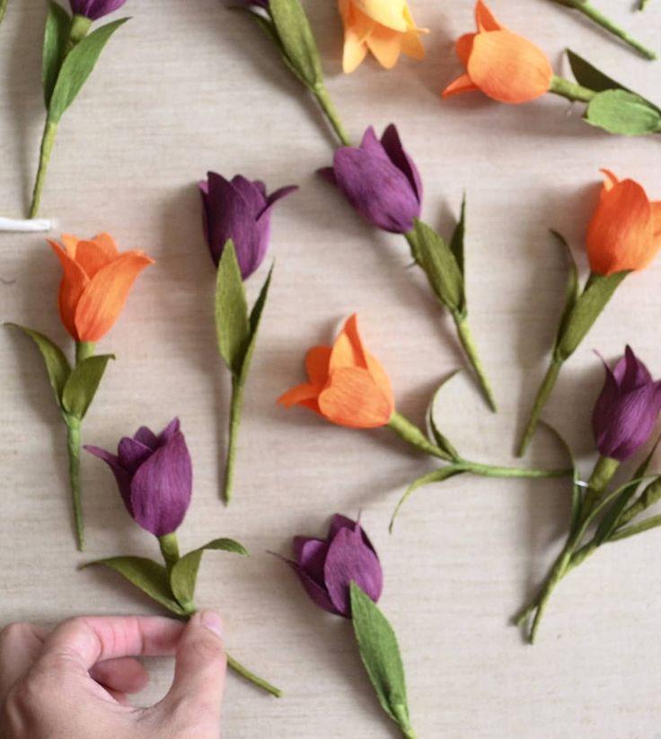 "472 Likes, 10 Comments - Lucia Balcázar - Paper Art (@luciabalcazar) on Instagram: ""These mini tulips became lapel pins for the @mfaboston  Estos mini tulipanes se convirtieron en…"""