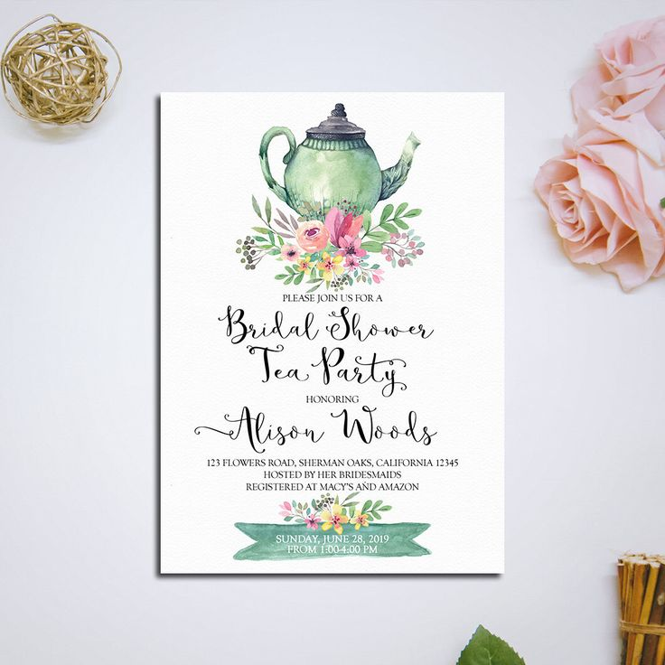 Best 20+ Bridal tea invitations ideas on Pinterest | Tea party ...