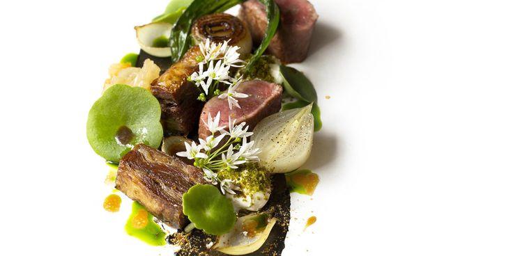 Lee Westcott's Lamb, smoked aubergine, yoghurt and onions recipe