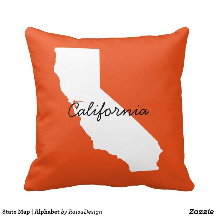 State Map | Alphabet Throw Pillow