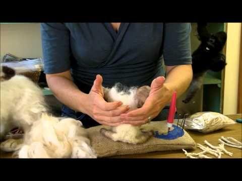 ▶ How To Needle Felt - Attaching Long Fibers: Sarafina Fiber Art Episode 7 - YouTube