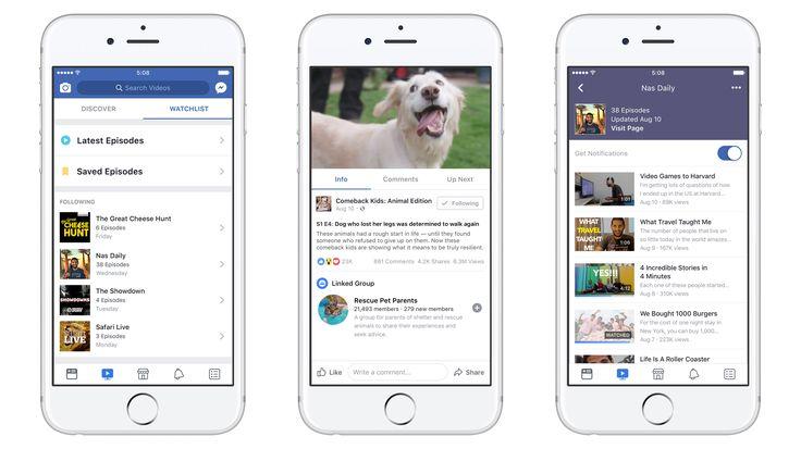 Ecco Facebook Watch, la tv di Mark Zuckerberg https://www.sapereweb.it/ecco-facebook-watch-la-tv-di-mark-zuckerberg/        L'approdo di Facebook al mondo della tv tradizionale è ufficialmente entrato nella sua fase finale: la società di Mark Zuckerberg ha infatti annunciato nelle scorse ore il varo di Facebook Watch, una nuova piattaforma interna al social network accessibile da computer, tablet, smartwatch...