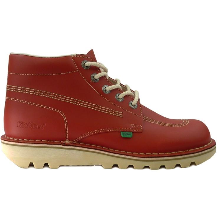 Mens Kickers Kick Hi Red Boots