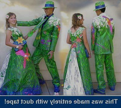 how to make a duct tape prom dress