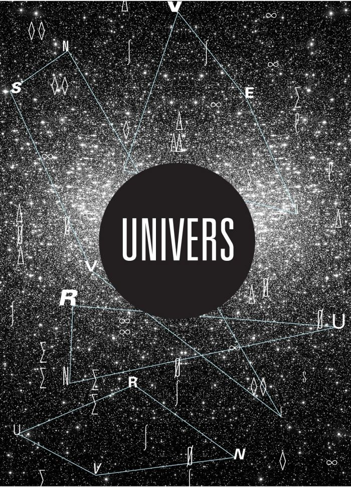 """This is the second of this typestyle that I have pinned and it's even better than the first. Love, love, love the play on the """"universe"""" concept. A very outer space look. Makes it look like you're staring at billions of stars."""