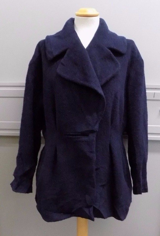 Nicole Farhi Ladies Navy Blue Wool Coat Size 8 | Clothes, Shoes & Accessories, Women's Clothing, Coats & Jackets | eBay!