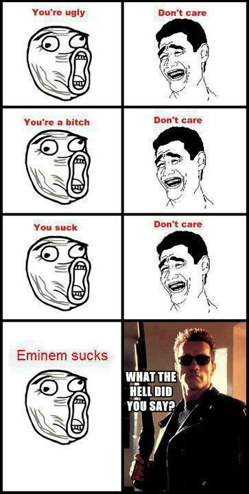 don't talk crap of eminem