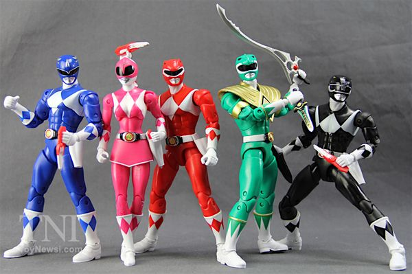 "Power Rangers 6.5"" Legacy Collection (Red, Blue, Black, Pink & Green) Rangers Figures Review & Images"
