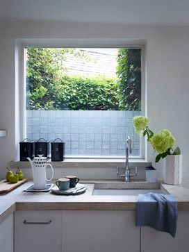 Linya white printed design - Transitional - Kitchen - south east - by The Window Film Company UK Ltd